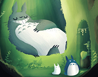 Totoro - Tribute for illustration expo