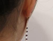 Line of Purple Earring