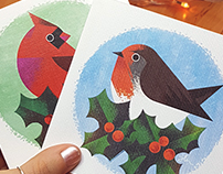Chirpy Christmas cards