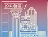 AMEBA PRISMATICA 2018 Poster illustration & design.
