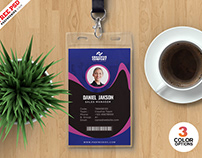 Awesome Office Identity Card PSD Template