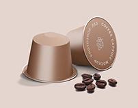 Free* Espresso Coffee Capsule Mockup