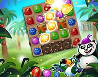 Tumble Jungle 2017 - Mobile Game Infographic & Game art