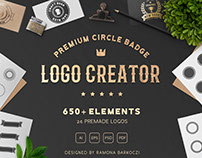 Premium Circle Badge Logo Creator