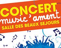Affiche concert générique - Music Ament