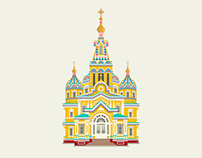 The Ascension Cathedral vector illustration | 2017