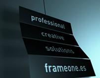 Promo frameone diseño audiovisual