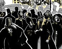 """Illustration for N. V. Gogol`s """"Nevsky Prospect"""""""