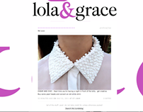 Lola & Grace - Advertorial/fanzine pitch