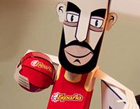 Pau Gasol - Paper Basketball Star