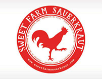 Sweet Farm Sauerkraut Labels