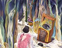 be lost in memories (illustration)