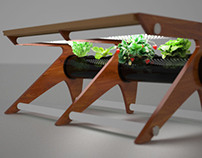 """Living"" Room Hydroponic Coffee Table"