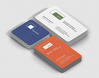 Business Card Mockup Bundle Stack Round Corners