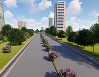 Link Road to Bus Terminal Road 3D Design