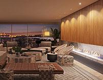 Architectural visualization / Night interior view
