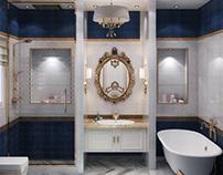 Classic master bathroom design at con-creative office