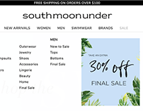 Ecom Navigation Redesign - South Moon Under