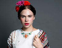 Modern day Frida Kahlo: Josie by Juliana Soo