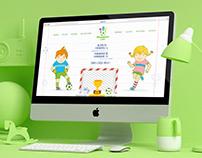 """""""PRADINUKŲ LYGA"""" internetinio puslapio dizainas"""