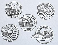 Création logo pour goodies, st-Malo par Loolye Labat