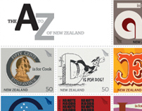 The A to Z of New Zealand Poster