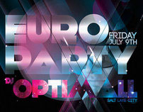 euro party poster