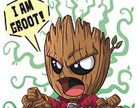 Angry Groot & Dancing Groot