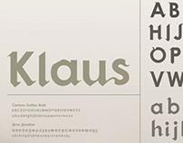Klaus |  a hybrid typeface.