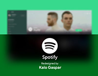 Redesign Spotify - Fluent Design