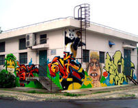 world cup graffiti mural 2010