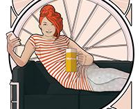 Propuesta ilustración para Cervezas Mahou