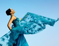 Vestido Azul Volando