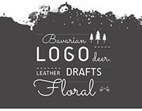 """Logo Design, Logo Drafts / """"Floral Deer"""""""
