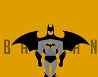 Batman in flat design