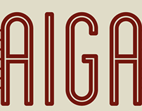 """AIGA """"The Next Step Is To Influence Design"""" Poster"""