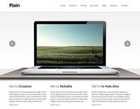 Plain - HTML Template