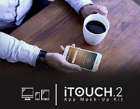 iTouch 2. App Mock-Up kit