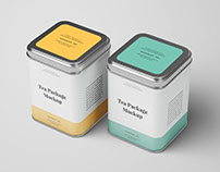 Tea Package Mockup - Photoshop .PSD