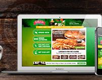 LaRosa's Pizza Website Takeover - St Patrick's Day