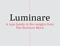 Luminare – A type family in five weights