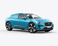 Jaguar I-Pace Electric Car Mockup