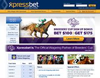 Xpressbet.com Site Redesign - 2011
