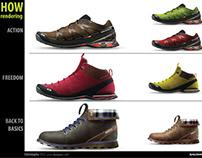 Salomon Footwear design study 2011