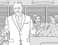 Tv commercial storyboard