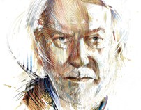 Donald Sutherland Illustration for New York Observer