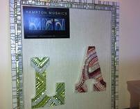 """Shimmer"" Original Mosaic Art Frames and Memo Borders"