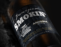 Juniper Smokin' Beer Label