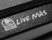 Live Más Typography