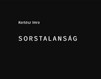 Sorstalanság // Fatelessness book redesign